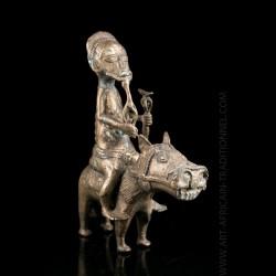 Cavalier Baoulé en bronze