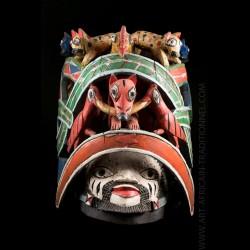 Masque heaume Yoruba Nago...