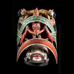 Yoruba Nago mask of the...