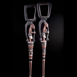 Eshu Chief staffs - Yoruba...