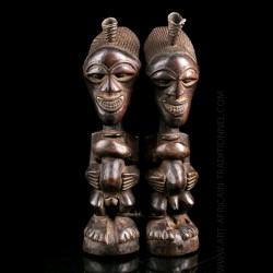 Couple of Nkisi Songye figures
