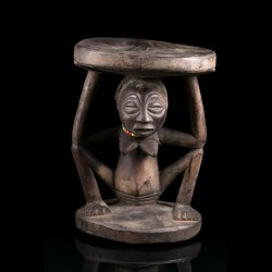 Caryatid stool Chokwe Congo