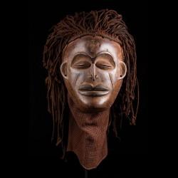 Masque africain Mwana Pwo -...