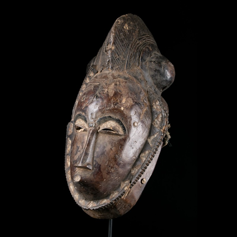 Facial mask - Yaoure - Ivory Coast - primitive african art