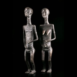 Couple primordial en bronze...