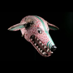 Hyena mask of the Gelede -...