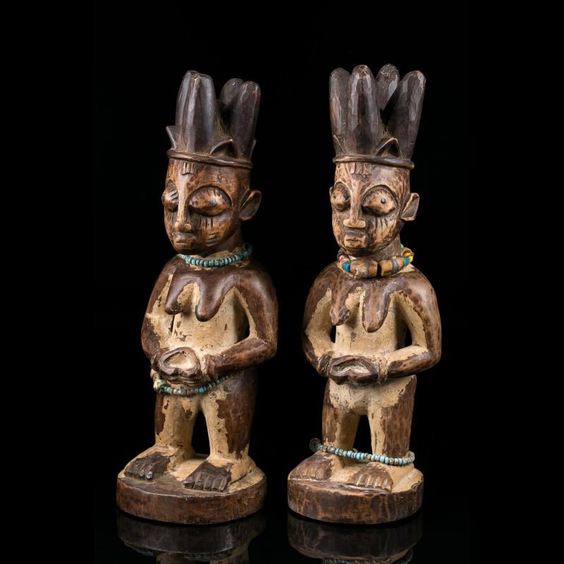 Pair of Ibeji twins - Yoruba - Nigeria