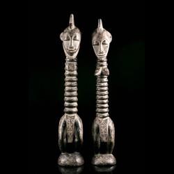 Pair of Degele figures -...