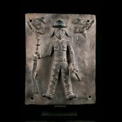 Plaque en bronze Bini Edo
