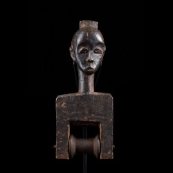 Figurative heddle pulley - Baule - Ivory Coast