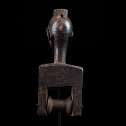Figurative heddle pulley - Baule - Ivory Coast