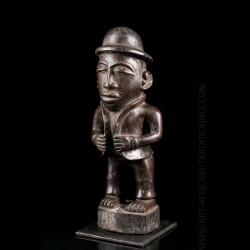 Kongo colonist figure -...