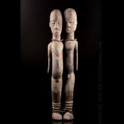 Statue Bateba bicéphale...