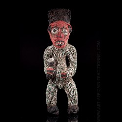 Bamileke beaded figure -...
